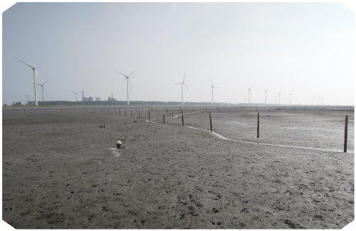 本鄉火力發電廠沙地遠景照