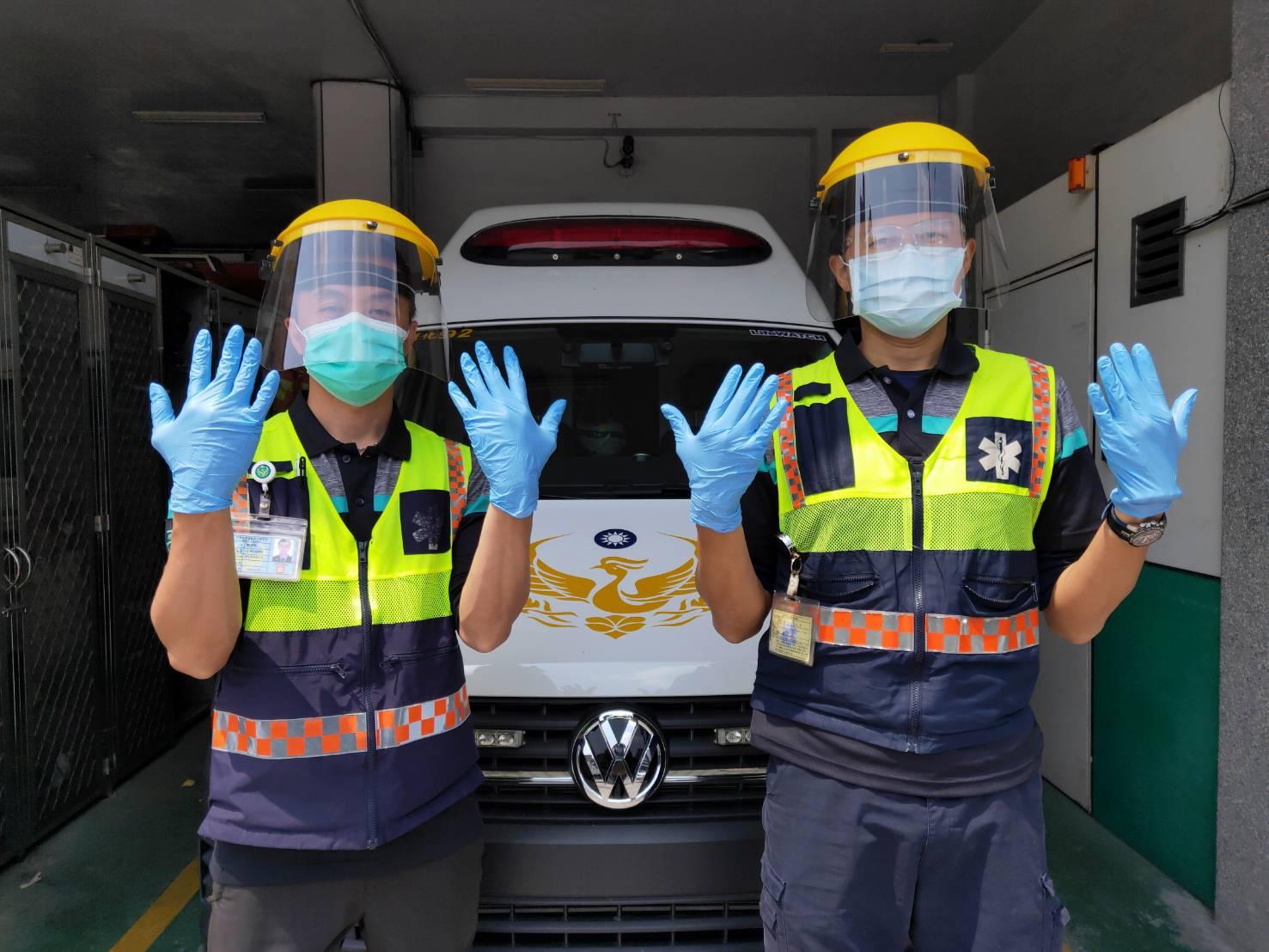 彰化縣消防局即日起執行緊急救護勤務 常規配戴非拋棄式半罩式面鏡