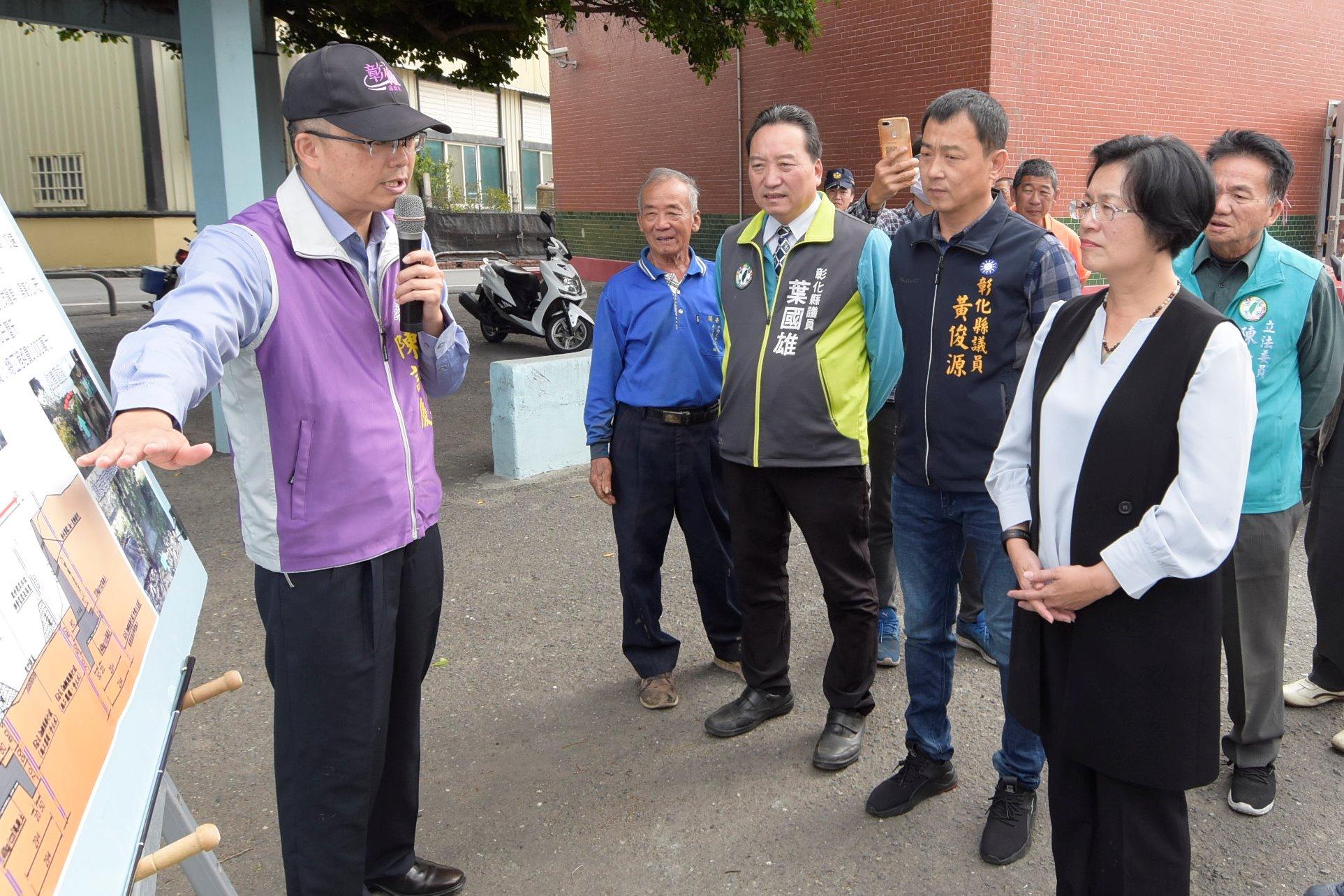王縣長現勘福興鄉阿力排水應急工程將儘速改善 福興鎮平街路面不佳 將辦理改善保障民眾的安全