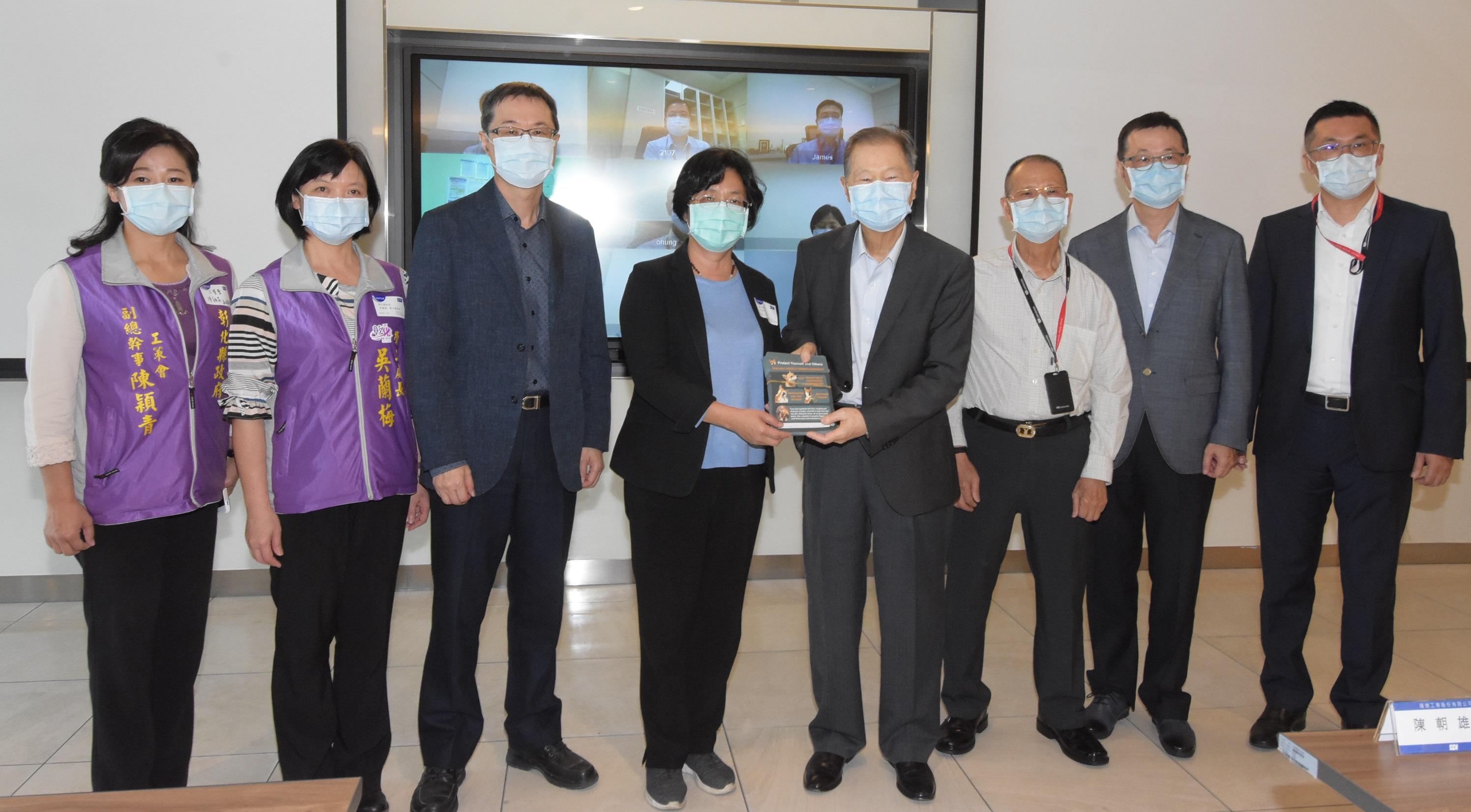 王惠美縣長參訪順德工業公司防疫措施