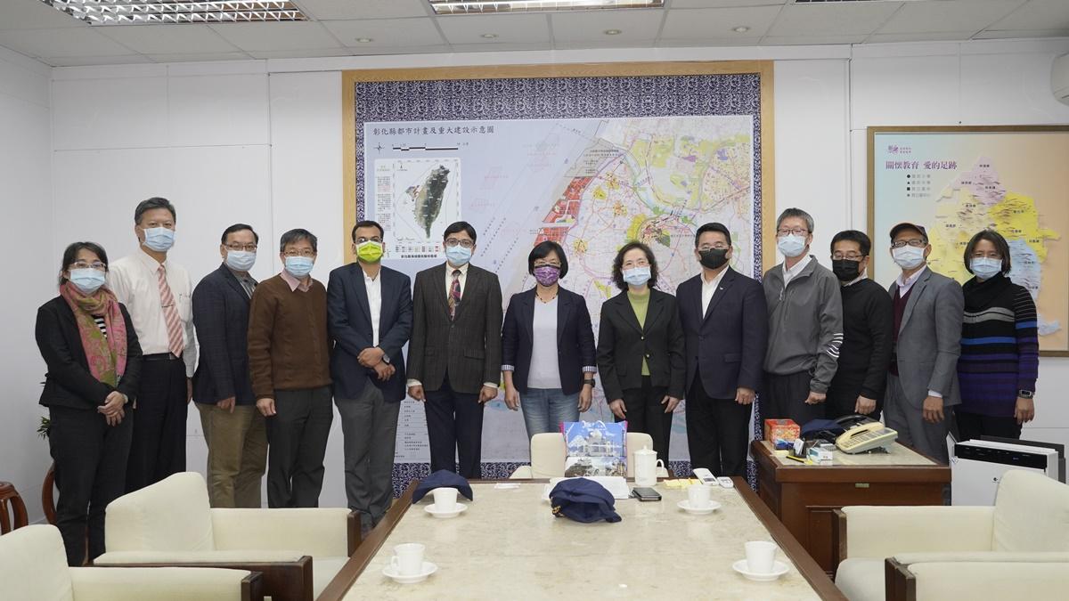 印度台北協會會長戴國瀾拜訪彰化縣政府