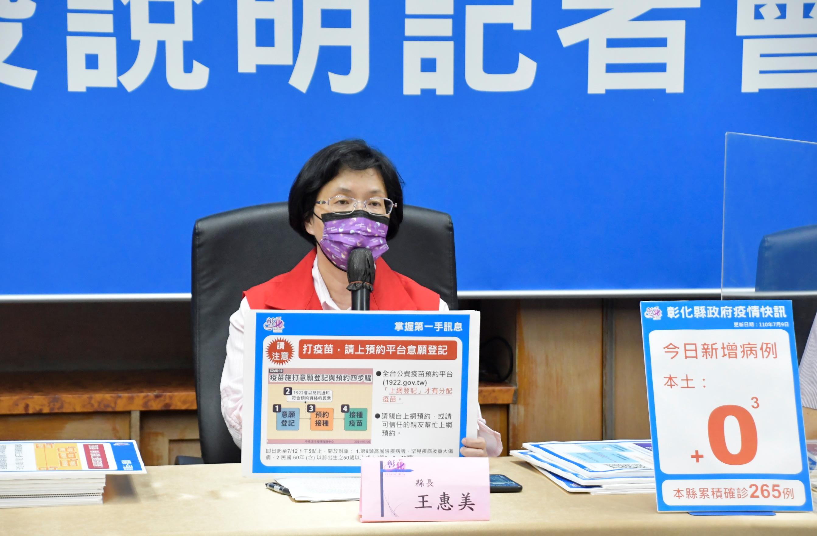 7月9日防疫記者會 再次+0 防疫不鬆懈 彰化微解封 宗教場所不解封,不開放 防堵隱形傳染鏈 確診個案的接觸者3003人施打疫苗