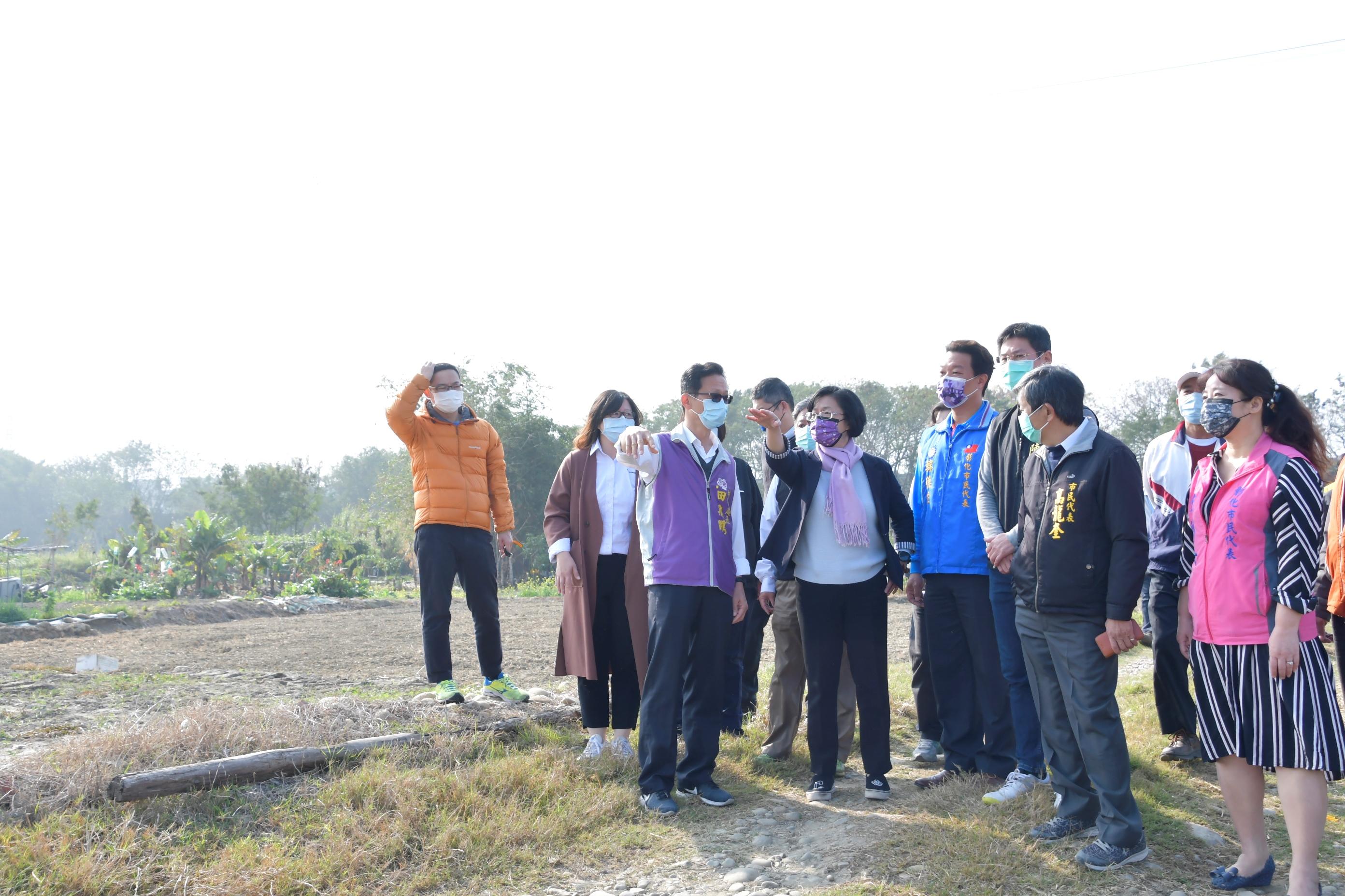 視察彰化市烏溪堤防水岸河濱公園基地遊憩廊道串連計畫