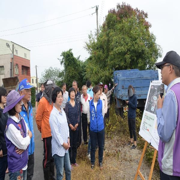 王縣長視察二林鎮地區水利建設 指示加速治理腳步、減少積淹水事件
