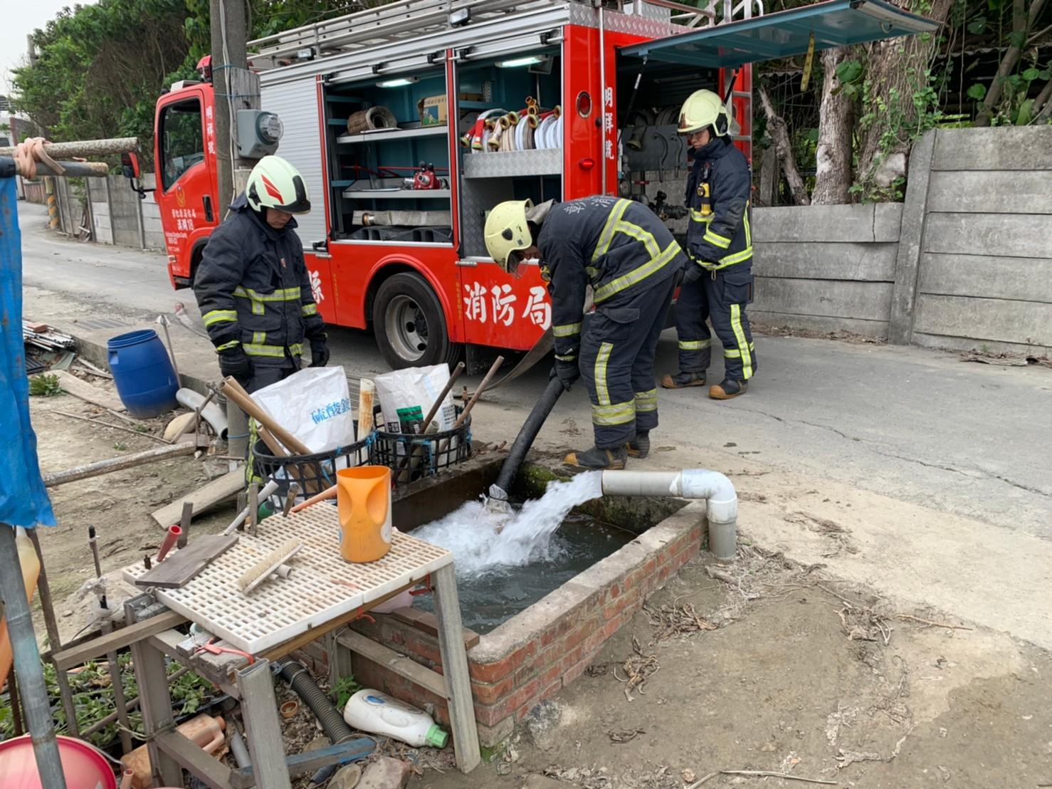 水情嚴峻  彰化縣消防局開源節流搶救演練一把罩