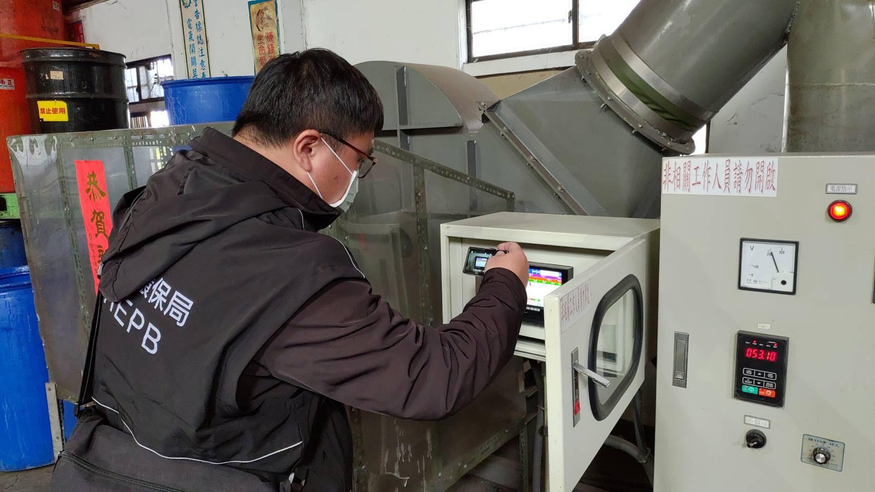 彰化縣執行空品不良應變作業 查獲違法工廠並依法告發處分
